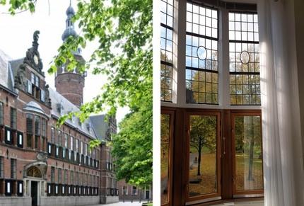 Isolerende achterzetbeglazing provinciehuis Groningen