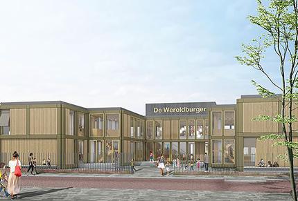 Basisschool De Wereldburger Amsterdam renovatie en uitbreiding